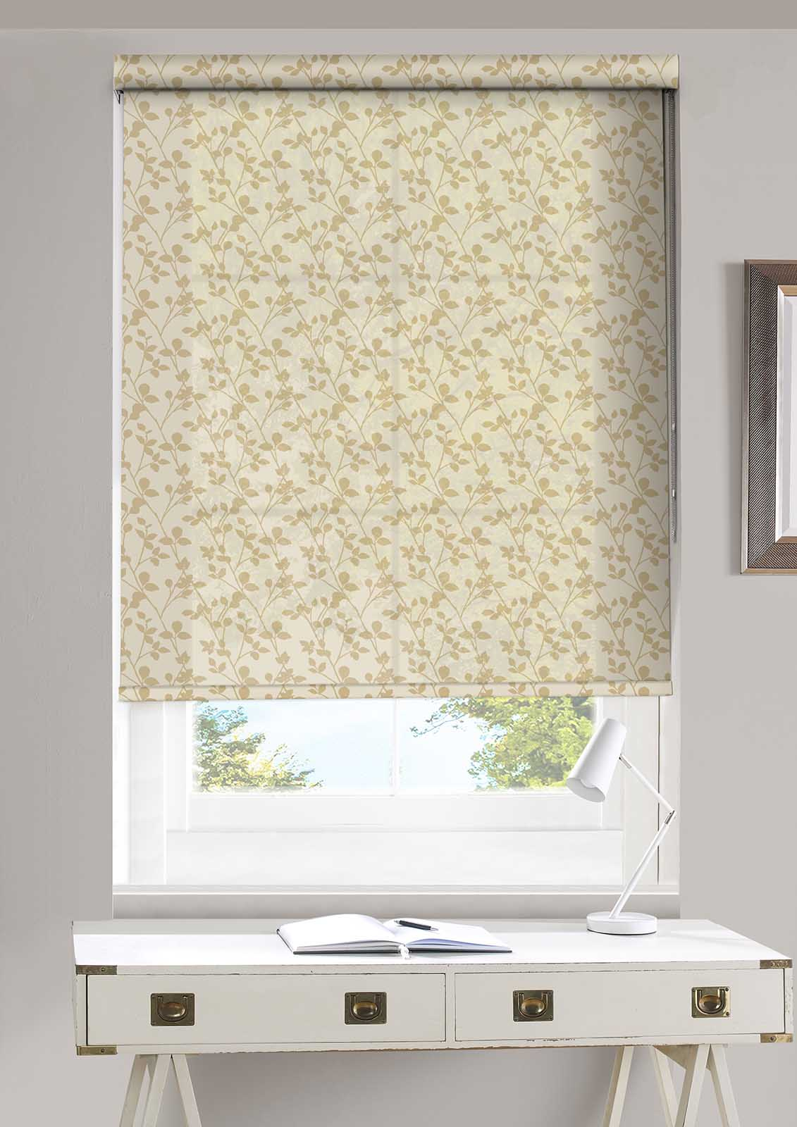 Leaf Gold Roller Blind Bolton Blinds