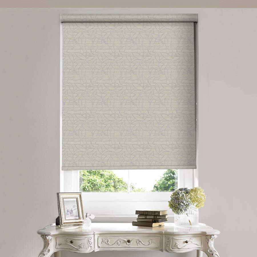 Stems Ecru Roller Blind Bolton Blinds