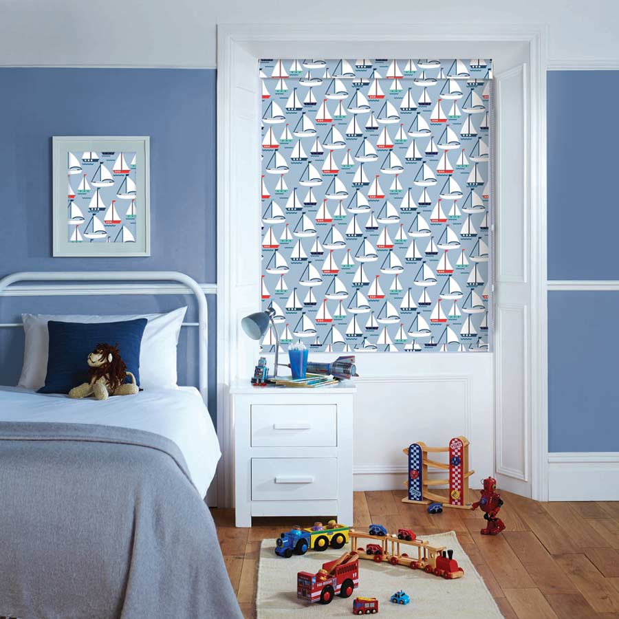 Boats Roller Blind | Bolton Blinds
