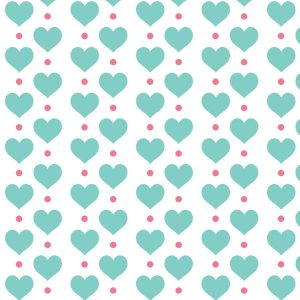 Hearts Roller Blind Pattern