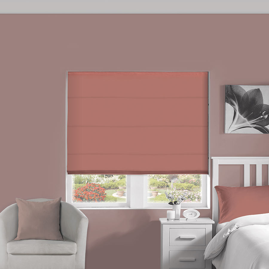 Silky Pink Roman Blind Bolton Blinds