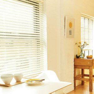 Cream Faux Wood Blind